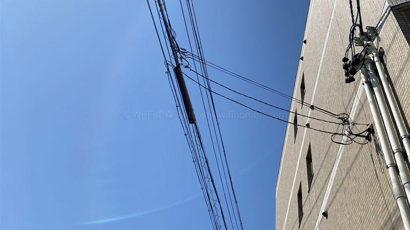 光回線をマンションに引き込んでいる