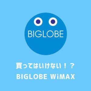 買ってはいけない?BIGLOBEのWiMAXはメリットがないって本当?