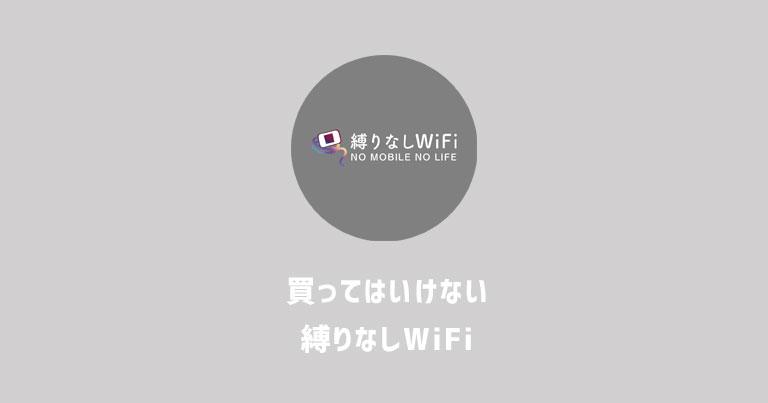 買ってはいけない!縛りなしWiFiはデメリットだらけのポケットWi-Fiでした