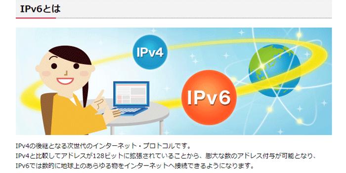 ドコモnetはIPv6が使える