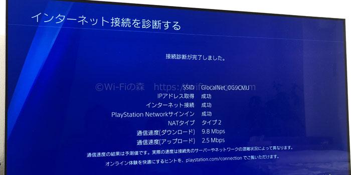 PS4でのどんなときもWiFiの実効速度