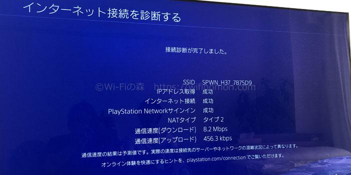 PS4でのWiMAXの実効速度
