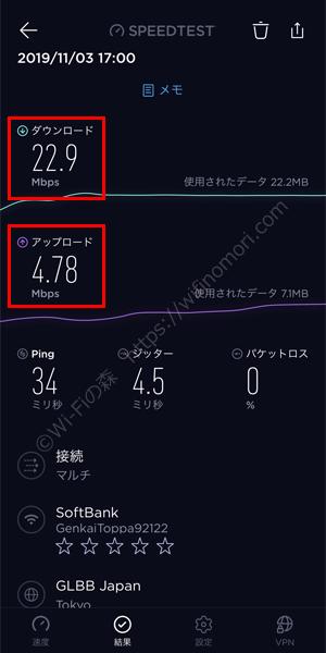 限界突破Wi-Fiの実行速度