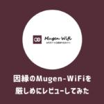 【私にしかできない】因縁の「Mugen-WiFi」を厳しめにレビュー