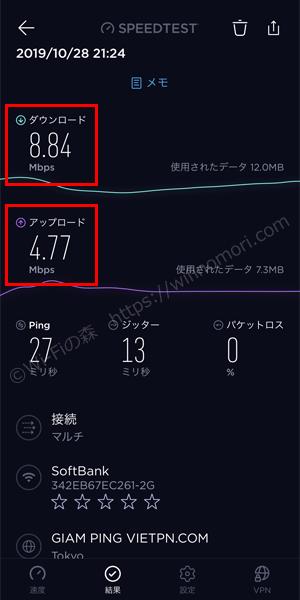 モバレコエアーよりMugen-WiFiのほうが速い