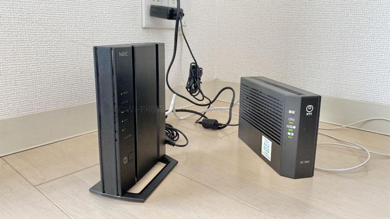 ONUと無線ルーター