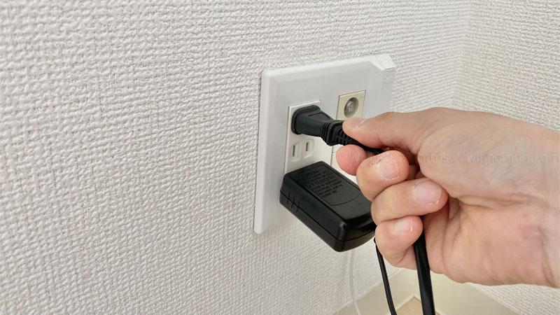 (3)無線ルーターの電源を入れる