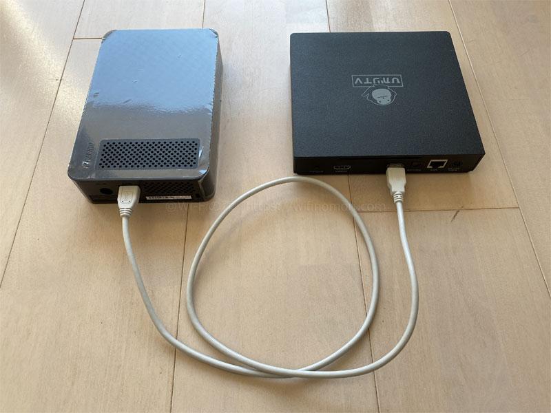 外付けHDDの接続方法と録画の仕方