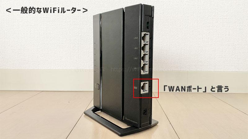 一般的な無線ルーターのWANポート