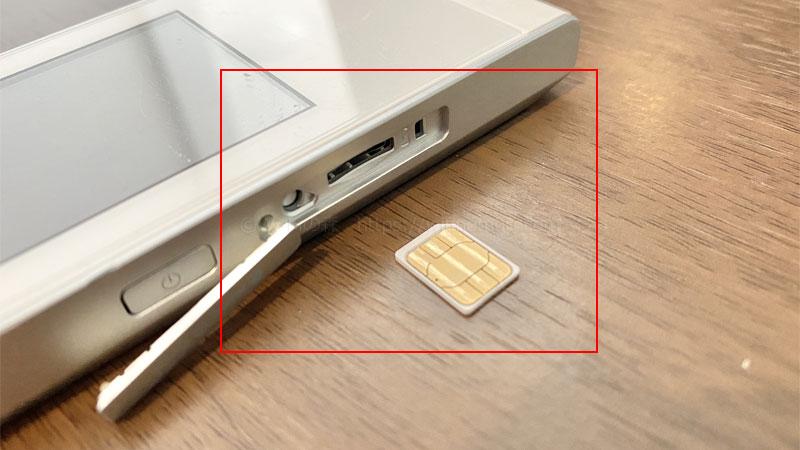 W05にSIMカードを入れる際は向きに注意
