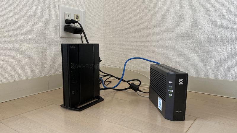 【インターネット設定方法】ONU+無線LANルーター