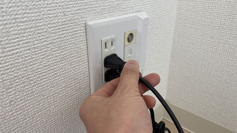 無線ルーターの電源を入れる