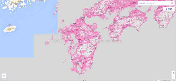 九州地方のエリアマップ