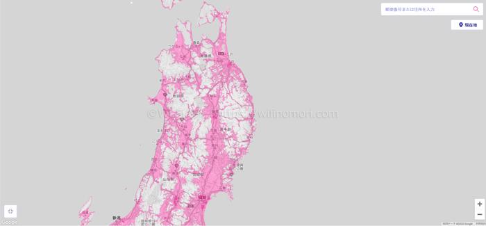 東北地方のエリアマップ