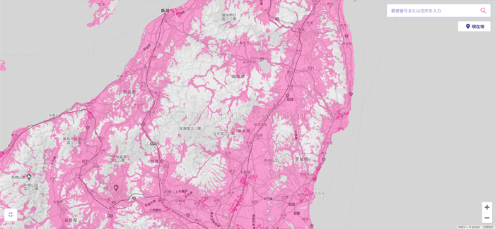 北関東のエリアマップ