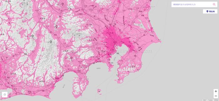 関東のエリアマップ
