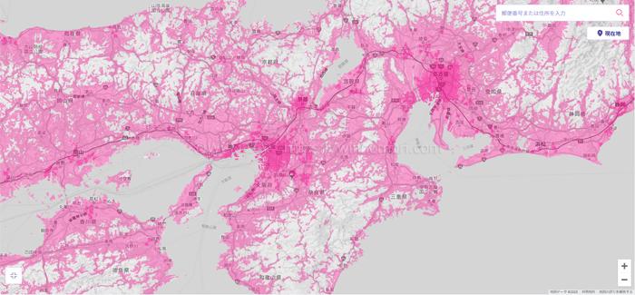 近畿のエリアマップ