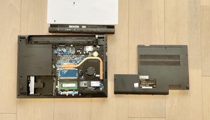 F5-i5のSSDとメモリを増設・交換するために分解する
