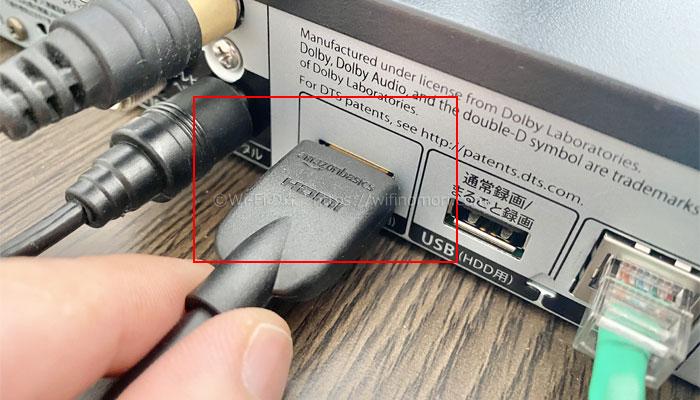 HDMIケーブルをつなぐ