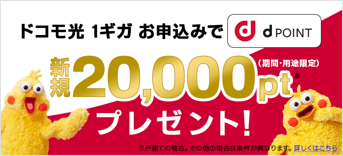 dポイント:最大20,000円分