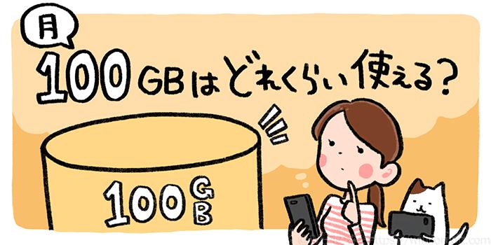 「月100GB」はどれくらい使えるのか