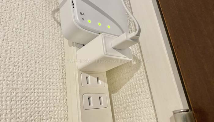 ※ケーブルの反対側もACアダプターをコンセントに挿してください。