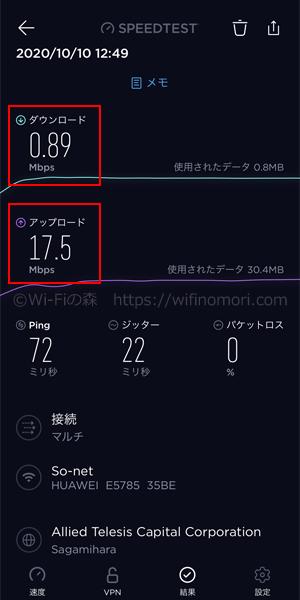 エキサイトモバイルWiFiの速度