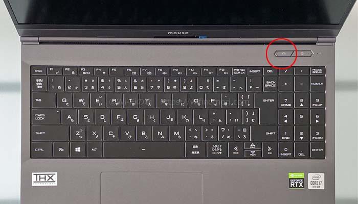 電源ボタンの左隣のボタンを押すごとにモードが切り替わる