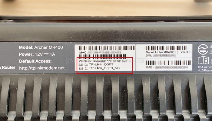 スグコネのSSIDと接続用パスワード
