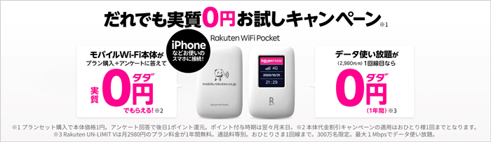 Rakuten WiFi Pocketの概要