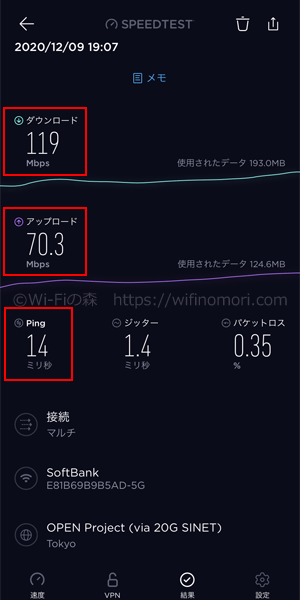 愛知県豊田市ソフトバンク光の速度
