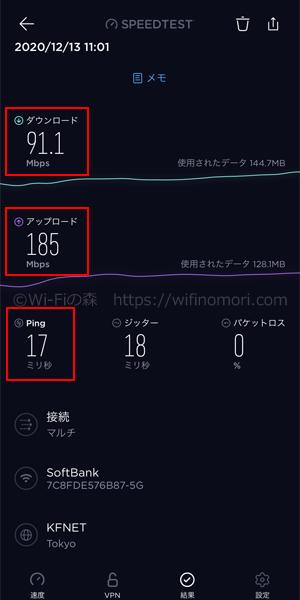 愛知県犬山市ソフトバンク光の速度