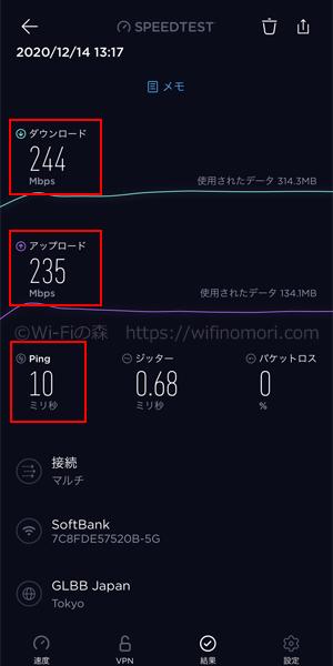 名古屋市中川区ソフトバンク光の速度