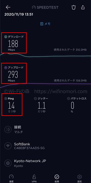 愛知県半田市ソフトバンク光の速度
