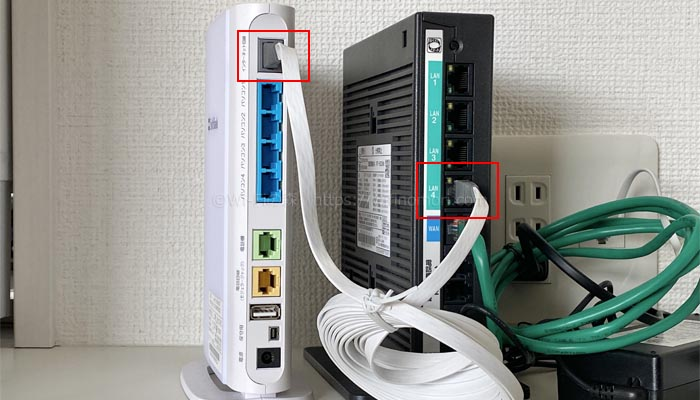 光BBユニットとHGWを接続する