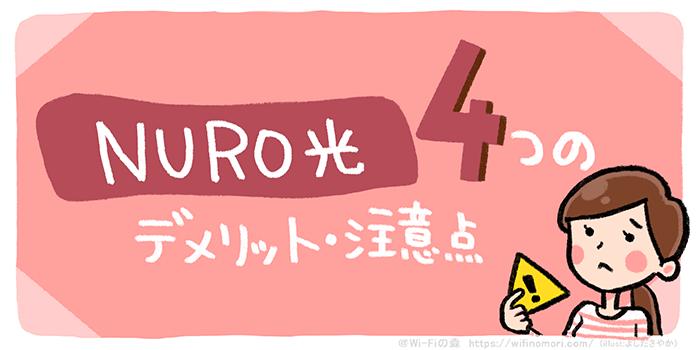 NURO光 4つの注意点・デメリット