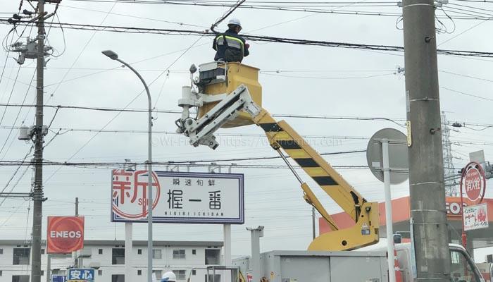 光回線の工事の様子