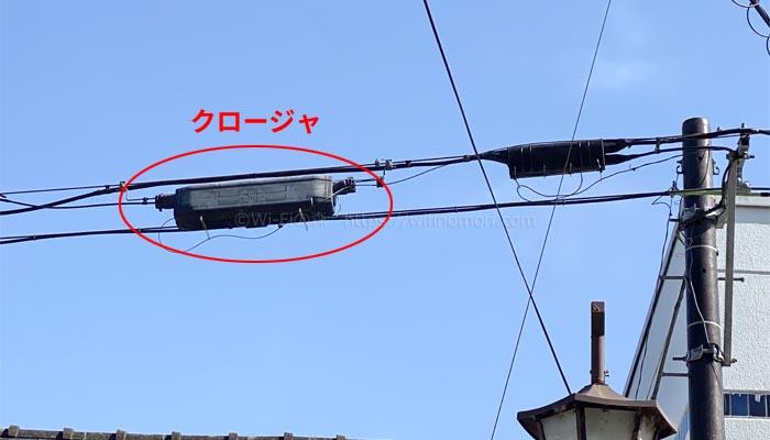光回線NTTのクロージャ