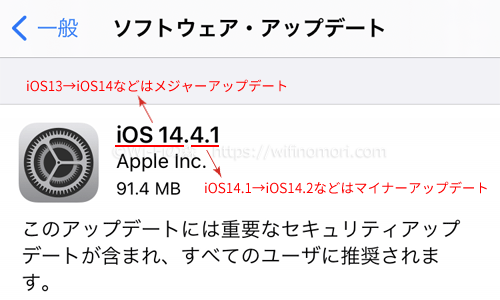 iPhoneのアップデートとは?