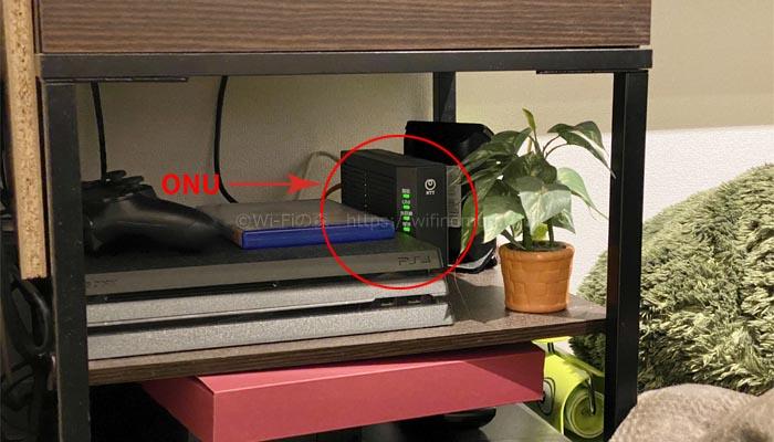 杉原様はONUとルーターを使用している