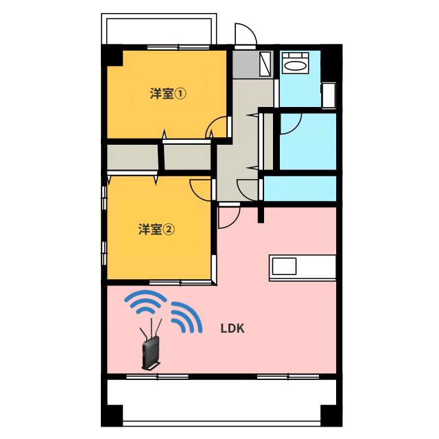 間取りとWi-Fiの関係図