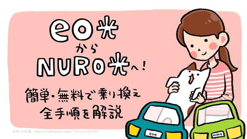eo光(イオ光)からNURO光へ簡単・無料で乗り換える全手順を解説 注意点・料金の比較も