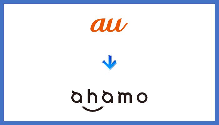 auからahamo(アハモ)に乗り換える手順