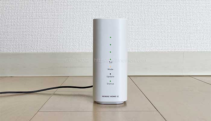 WiMAXのホームルーター home02