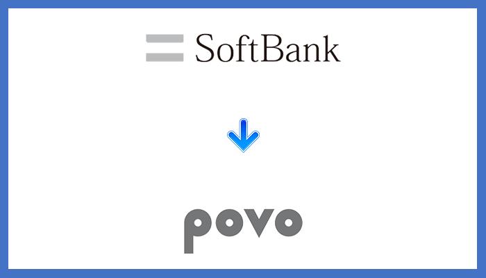 ソフトバンクからpovoに乗り換える手順