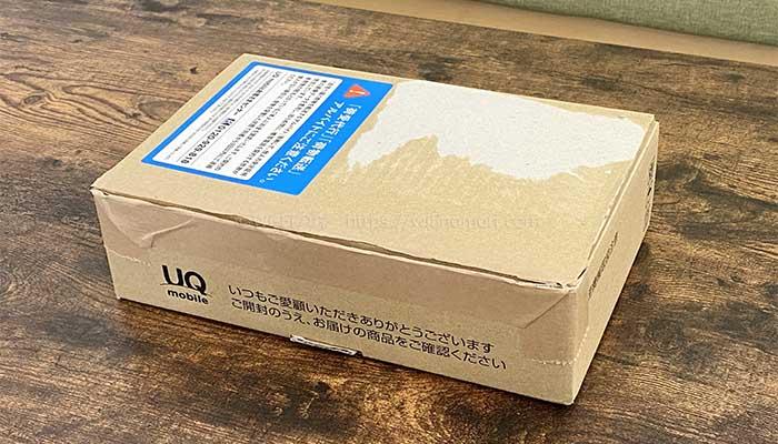 UQモバイルから商品が届く