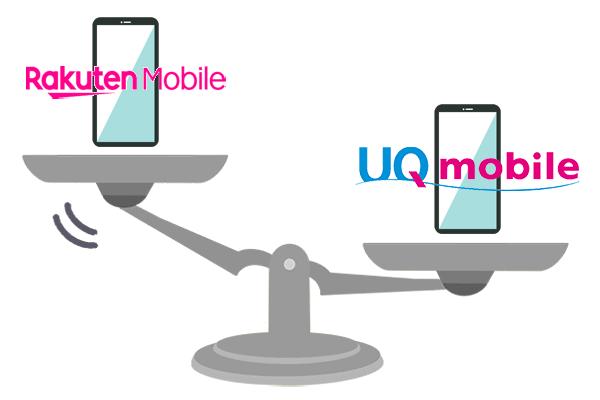 楽天モバイルとUQモバイルを比較